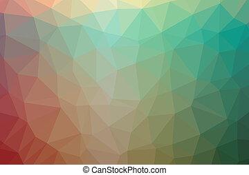 poly, abstrakt, niedrig, hintergrund