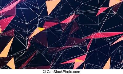 poly, triangles, boucle, texture, coloré, gradient, fond, ...