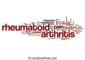 polyarthrite rhumatoïde, mot, nuage