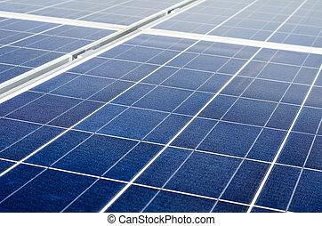 polycrystalline, photovoltaïque, panneaux, cellules, solaire