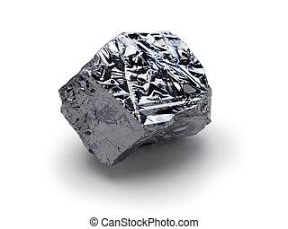 polycrystalline silicon, polysilicon isolated on white...