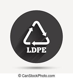 polyethylene., icon., ld-pe, low-density, señal