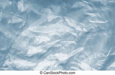Polyethylene or cellophane texture