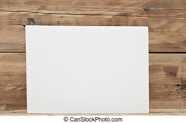 Polyfoam texture on wood background