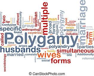 polygamie, concept, fond