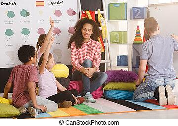 polyglot, 子供, 答えている質問