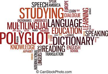 Polyglot typographical wordcloud - Vector polyglot ...