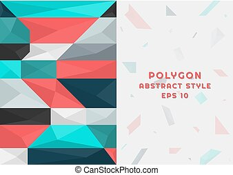 Polygon abstract background modern pattern design with space for your text