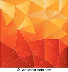polygon abstract  background red and yellow