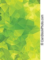 polygon., abstrakcyjny, zielone tło