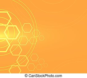 polygon and cycle abstract background technology vector illustra