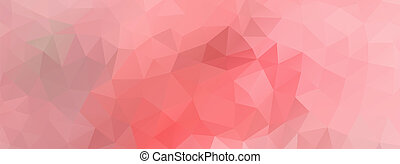 polygon background light pink, wide screen - Abstract...