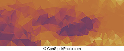 polygon background purple and light orange, wide screen -...