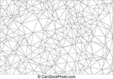 polygon., biały, czarne tło