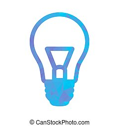 polygon blue icon lamp