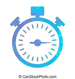 polygon blue icon stopwatch
