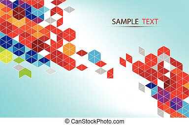 Polygon colorful abstract background vector