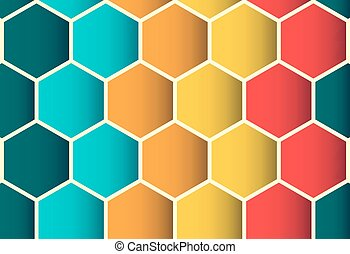 Polygon colorful seamless pattern, background