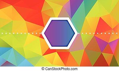 polygon, design, abstrakt, hintergrund
