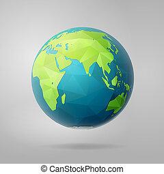 polygon east earth hemisphere on light