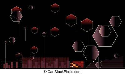 Polygon futuristic digital Infograph and radar point ...