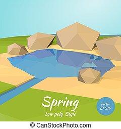 Polygon illustration of spring