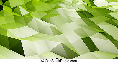 Polygon Landscape Abstract