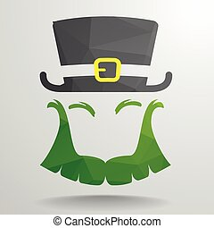 Polygon Leprechaun - detailed illustration of an abstract...