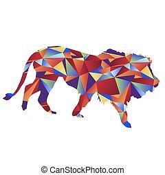 Polygon Lion Icon
