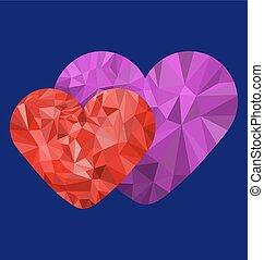 Polygon loving heart