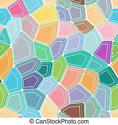 polygon, pentagon, seamless, bakgrund., design, färgglatt