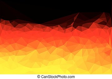 Polygon vector map of Germany