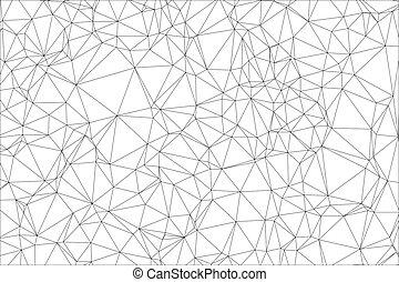 polygon., vit, svart fond