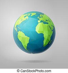 polygon west earth hemisphere on light