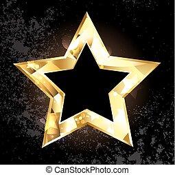 polygonal, étoile, or