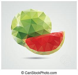 polygonal, καρπούζι