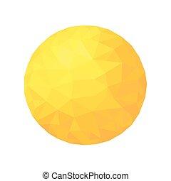 polygonal, σφαίρα , sun., particle., χρυσός