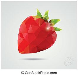 polygonal, φράουλα