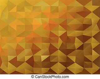 polygonal, χρυσός , φόντο