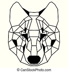 polygonal, דמות, זאב, נמוך
