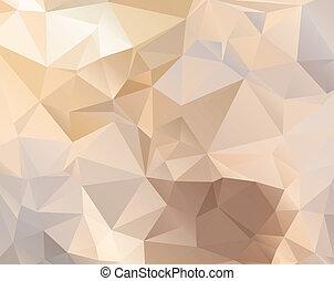 polygonal, パステル, 抽象的, 色, 背景