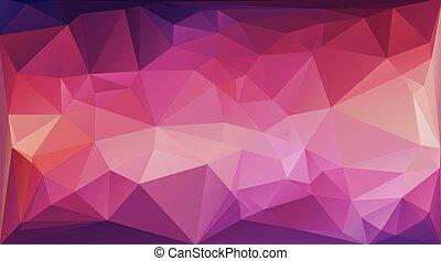 polygonal, ベクトル, カラフルである, 背景, テンプレート, モザイク, 創造的, ビジネス, デザイン, イラスト