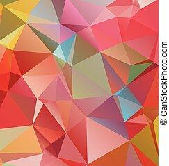 polygonal, モザイク, 背景, ベクトル, イラスト, ビジネス, テンプレートを設計しなさい