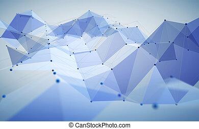 polygonal, 抽象的, スペース