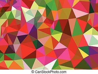 polygonal, 抽象的, ベクトル, カラフルである, 背景