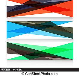 polygonal, 旗, 現代, 背景, ベクトル