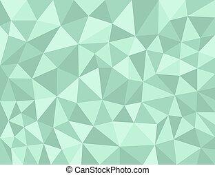 polygonal, 綠色, 結構
