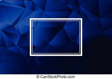 polygonal, 青, 抽象的, 背景, 現代