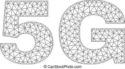 Polygonal 2D 5G Text Label