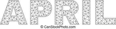 Polygonal 2D APRIL Text Label